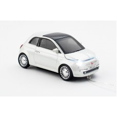 Click Car Mouse Fiat 500, wired muis met USB kabel - (White)