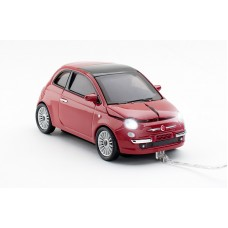 Click Car Mouse Fiat 500, wired muis met USB kabel - (Red)