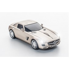 Click Car Mouse Mercedes Benz SLS AMG, wireless mouse - (Pearl Beige)