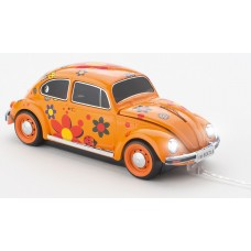 Click Car Mouse VW Beetle, wired muis met USB kabel - (Power Flower Orange)